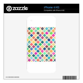 Watercolor geometric pattern skin for iPhone 4