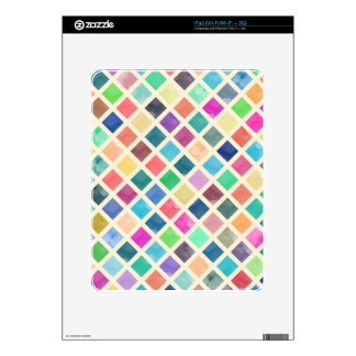 Watercolor geometric pattern skins for the iPad