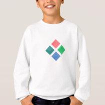 Watercolor geometric pattern sweatshirt