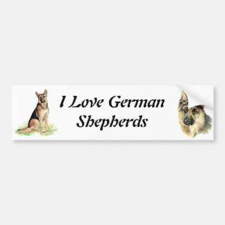 Watercolor German Shepherd Pet Dog Animal Bumper Sticker