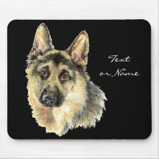 Watercolor German Shepherd Pet Dog Animal Mouse Pad