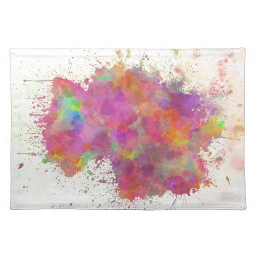 Watercolor Germany map style splash Placemats