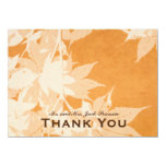 Watercolor Ghost Leaves Personalized Thank You Card