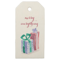 watercolor gift boxes christmas Holidays Gift Tag