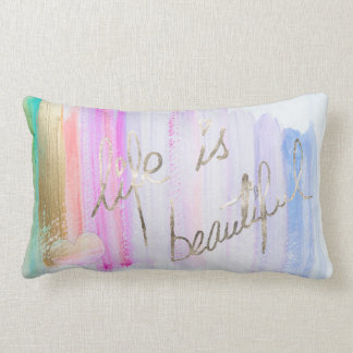 Watercolor Gilded Life Pillow