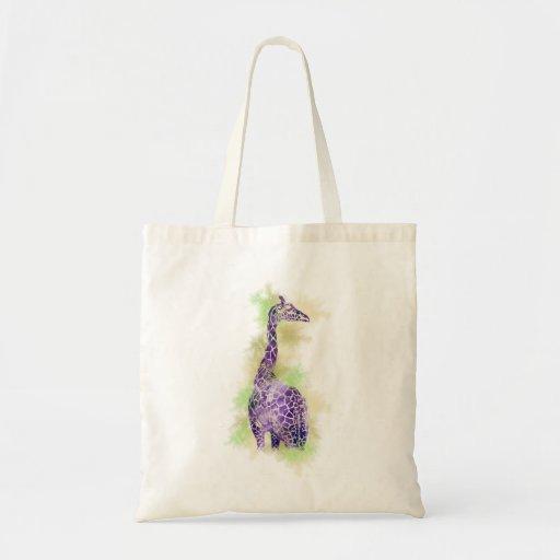 Watercolor Giraffe 1 Budget Tote Bag