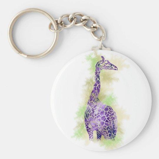 Watercolor Giraffe 1 Keychain
