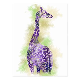 Watercolor Giraffe 1 Postcard
