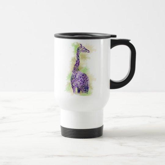 Watercolor Giraffe 1 Travel Mug