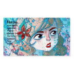 Watercolor Girl Business Card Business Cards