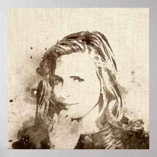 Watercolor Girl Portrait canvas print