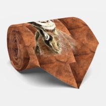 Watercolor Goat Farm Animal Pattern Art Tie