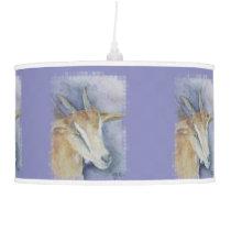 Watercolor Goat/Kid Ceiling Lamp
