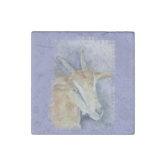 Watercolor Goat/Kid Stone Magnet