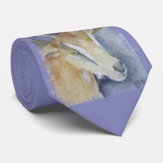 Watercolor Goat/Kid Tie