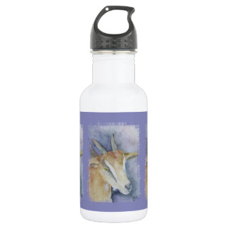 Watercolor Goat/Kid Tiled Stainless Steel Water Bottle