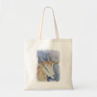 Watercolor Goat/Kid Tote Bag