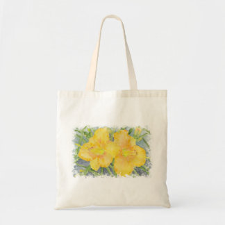 Watercolor Golden Daylilies Tote Bag