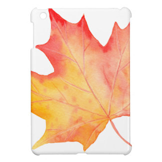 Watercolor Golden Maple Leaf Cover For The iPad Mini