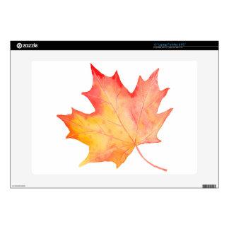 Watercolor Golden Maple Leaf Laptop Skin