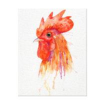 Watercolor Golden Rooster Print
