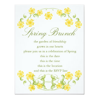 Watercolor Golden Yellow Blooms Card