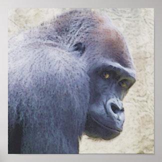 Watercolor Gorilla Poster