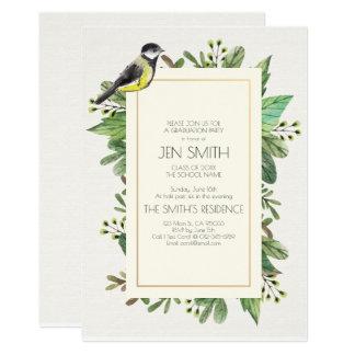 Watercolor. Graduation Party Invitation. Card