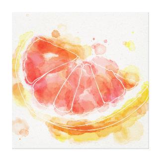 Watercolor Grapefruit Canvas Print