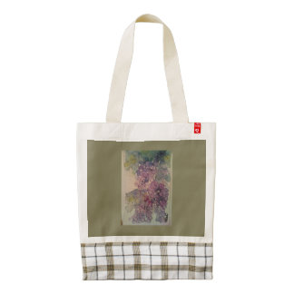 Watercolor Grapes Tote, Green Zazzle HEART Tote Bag