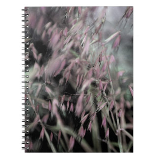 Watercolor Grasses in Grey and Pink Notebooks