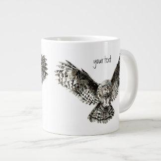 Watercolor Great Grey Owl to Customize Large Coffee Mug