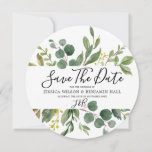 """Watercolor Green Leaves Modern Wedding Save The Date<br><div class=""""desc"""">Watercolor Green Leaves Modern Wedding  Save The Date  See our store for the matching invitation,  RSVP and more.</div>"""