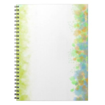 Beach Themed Watercolor Green Notebook