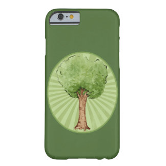 Watercolor green tree barely there iPhone 6 case