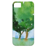 watercolor green trees. iPhone 5 cases