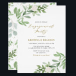 "Watercolor Greenery and Flowers Engagement Party Invitation<br><div class=""desc"">Watercolor Greenery and Flowers Engagement Party Invitation 