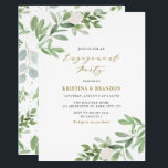 """Watercolor Greenery and Flowers Engagement Party Invitation<br><div class=""""desc"""">Watercolor Greenery and Flowers Engagement Party Invitation 