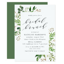 Watercolor Greenery | Bridal Brunch Invitation