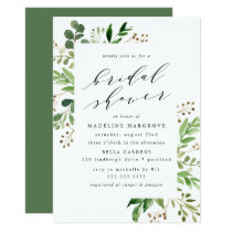 Watercolor Greenery | Bridal Shower Invitation