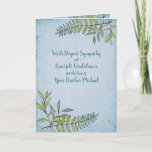 Watercolor Greenery Personalized Sympathy Card