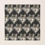 "Watercolor Grey Wolf Animal Nature Art Scarf<br><div class=""desc"">Watercolor Grey Wolf Animal Nature Art Wildlife</div>"