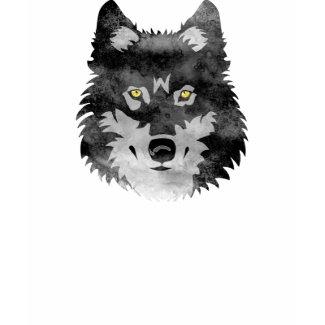 Watercolor Grey Wolf shirt