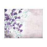 Watercolor grunge background with bells canvas print