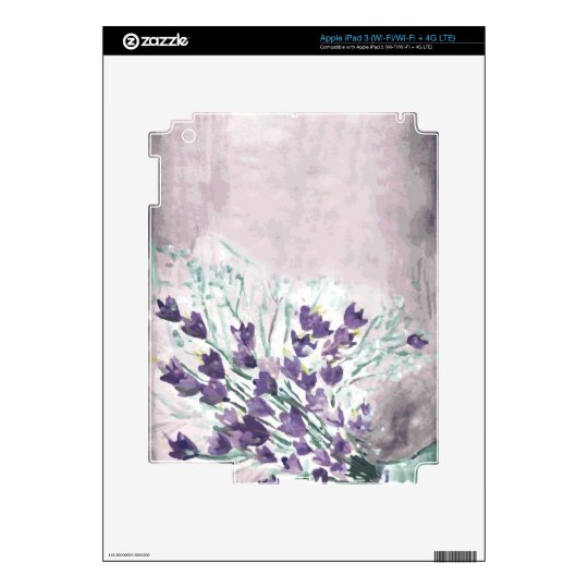 Watercolor grunge background with bells decals for iPad 3