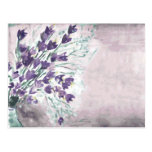 Watercolor grunge background with bells postcard