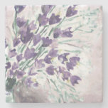 Watercolor grunge background with bells stone beverage coaster
