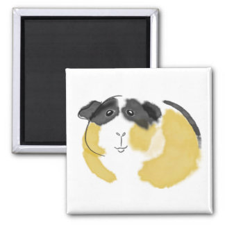Watercolor Guinea Pig 2 Inch Square Magnet