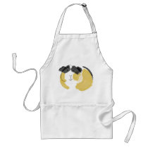 Watercolor Guinea Pig Adult Apron