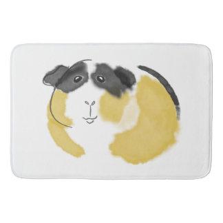 Watercolor Guinea Pig Bathroom Mat